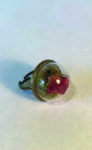 Rose Bud Bell Jar Ring