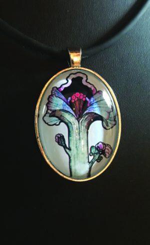 my inner witch | tarot pendant Ace of wands aquarian tarot mystical tarot jewellery