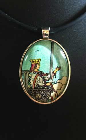 my inner witch | Queen of swords waite smith tarot pendant