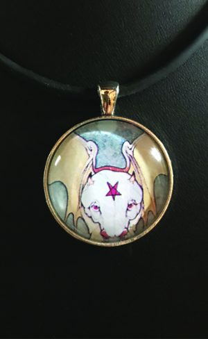 my inner witch | tarot pendant the devil aquarian tarot mystical tarot jewellery