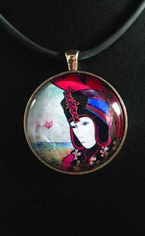 my inner witch   High Priestess tarot pendant tarot jewellery from Aquarian Tarot deck mystical and spiritual wearable art
