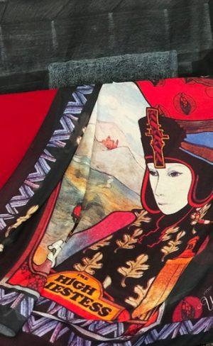my inner witch | high priestess aquarian tarot scarf silk blend