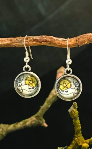 my inner witch | waite smith tarot ace of pentacles earrings
