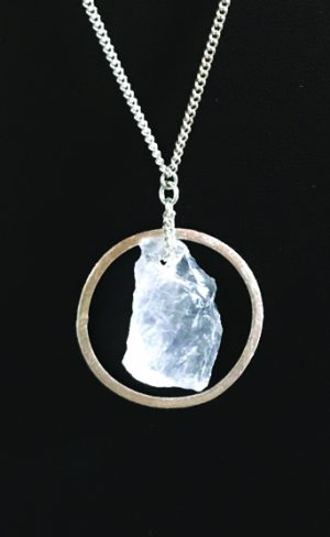 my inner witch | quartz crystal and silver pendant